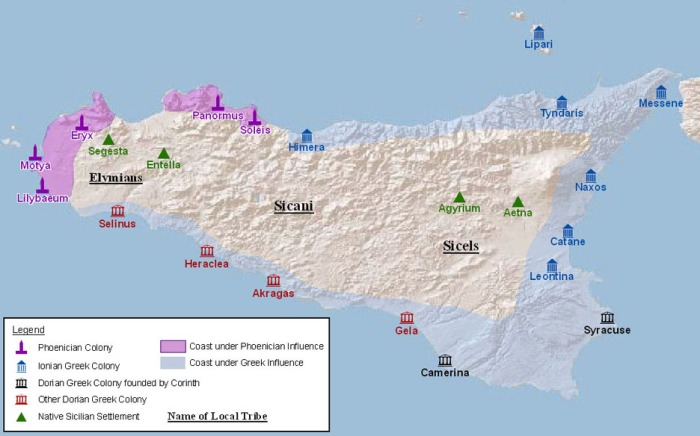 Greek and Phoenician Colonies inSicily